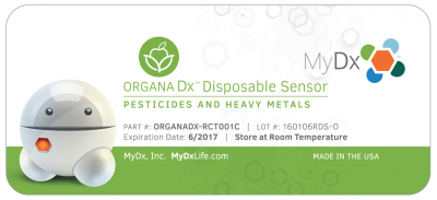 2-Pack OrganaDx™ Pesticides & Heavy Metals Single Use Sensor Kit
