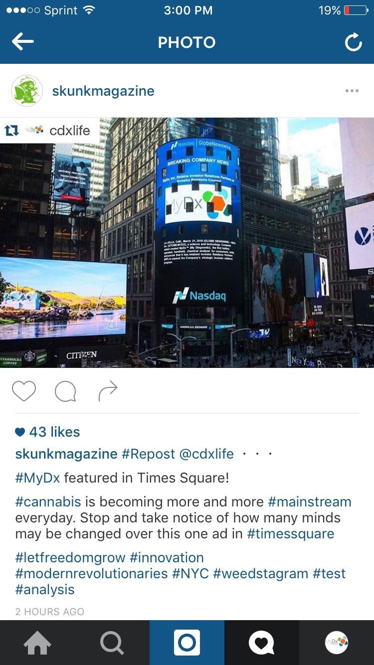 CDxLife - Times Square - New York - SkunkMagazine - Skunk Magazine - Accuracy - MyDx - Review - Reviews